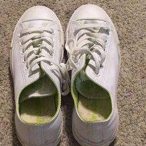 Converse sneakers, White, size 5 men, 7 women